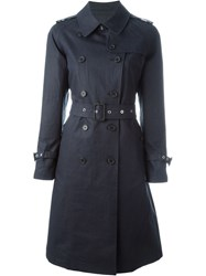 Mackintosh Belted Trench Coat Blue