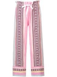 Lemlem Luchia Trousers Pink And Purple