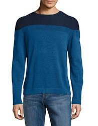 Calvin Klein Crewneck Long Sleeve Pullover Open Water Combo