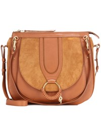 See By Chloe Hana Leather And Suede Shoulder Bag Brown