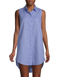 Onia Classic Sleeveless Cover Up Shirtdress Blue