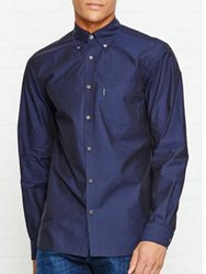 Aquascutum London Eshton Ls Poplin Shirt Navy