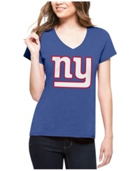 47 Brand '47 Women's New York Giants Splitter Logo T Shirt Royalblue