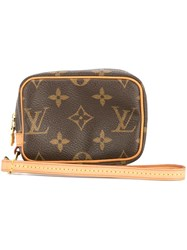 Louis Vuitton Vintage Monogram Trousse Wapity Pouch Brown