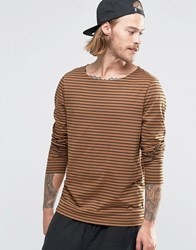 Asos Stripe Long Sleeve T Shirt Red Black
