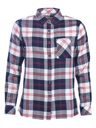 Barbour Dock Check Shirt Navy