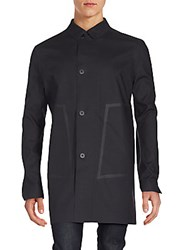 Porsche Design Sport Mackintosh Cotton Blend Coat Black