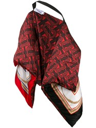 Burberry Archive Print Oversized Cape Red