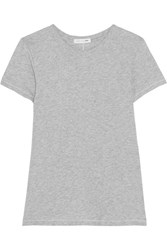 Rag And Bone The Tee Cotton Jersey T Shirt Gray