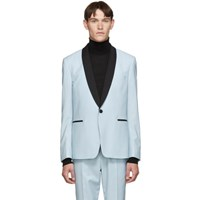 Paul Smith Blue Wool Shawl Tuxedo Suit