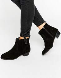 Miss Kg Jan Ankle Boots Black Suedette