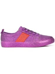 Opening Ceremony Lace Up Flat Sneakers Pink And Purple