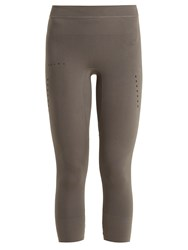 Falke High Rise Cropped Performance Leggings Dark Grey