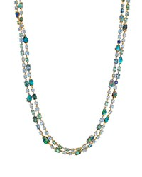 Mimi So Zozo Boulder Opal And Mixed Stone Necklace Blue Green