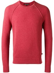 Michael Kors Long Sleeve Sweater Red