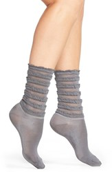 Women's Hue Tiered Ruffle Socks Thunder