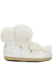 Moon Boot Chunky Fur Boots White