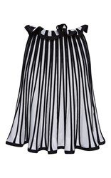 Msgm Striped Knit Skirt White