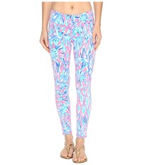 Lilly Pulitzer Weekender Leggings Tiki Pink Shake It Up Women's Casual Pants Blue