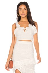Lioness Soulmate Crop Top White