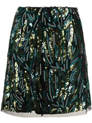 Patrizia Pepe Embellished Straight Mini Skirt 60