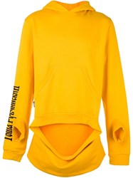 Gosha Rubchinskiy Cut Out Front Hoodie Yellow And Orange