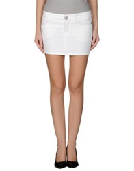 S.O.S By Orza Studio Denim Skirts White