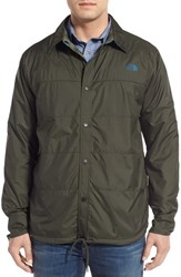 The North Face Men's 'Fort Point Flannel' Water Resistant Reversible Jacket Rosin Green