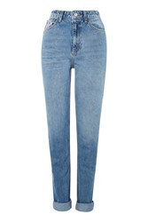 Topshop Tall 36 Mid Stone Wash Mom Jeans Mid Stone