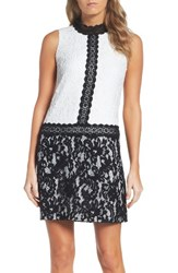 Maggy London Women's Block Lace Shift Dress