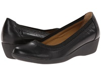 Softspots Stephanie Ii Black Velvet Sheep Nappa Women's Wedge Shoes