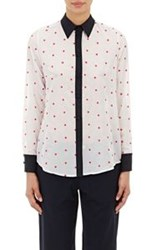 Harvey Faircloth Women's Embroidered Button Front Shirt White
