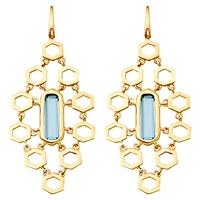 Astley Clarke London Blue Topaz Chandelier Earrings Blue