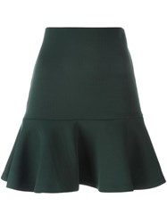 Mcq By Alexander Mcqueen Peplum Mini Skirt Green