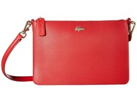 Lacoste Chantaco Double Pocket Zip Crossover Pompeiian Red Bags