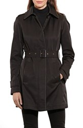 Lauren Ralph Lauren Women's Hooded Rain Coat Black