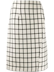 Gianluca Capannolo High Waist Check Skirt White