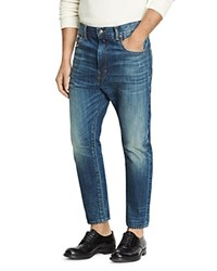 Vince Cropped Selvage Oversized Fit Jeans Medium Wash
