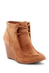 Lucky Brand Ysabel Wedge Bootie White