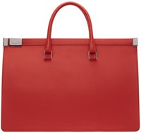Maison Martin Margiela Red Leather Duffle Bag