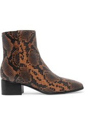 Rag And Bone Aslen Snake Effect Leather Ankle Boots Snake Print