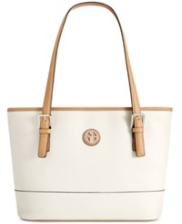 Giani Bernini Saffiano Tote White