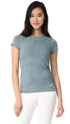 Pam And Gela Destroyed Tee Blue Suede