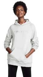 Baja East Thriving Embroidered Hoodie Heather Grey