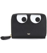 Anya Hindmarch Eyes Zip Around Leather Wallet Black