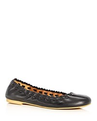 See By Chloe Jane Scalloped Ballet Flats Black