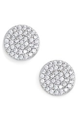 Women's Nadri 'Geo' Stud Earrings Silver