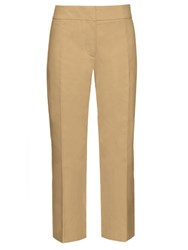Marni Mid Rise Cropped Cotton Chino Trousers Beige