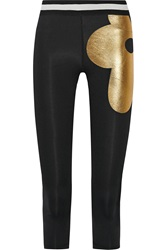 Cynthia Rowley Cropped Printed Stretch Jersey Leggings