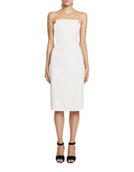 Jill Stuart Strapless Harlow Sheath Dress Off White